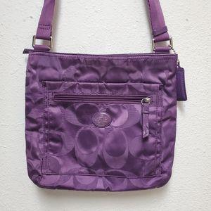 Coach purple nylon classic satchel
